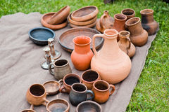Earthenware in the market Stock Photography