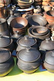 Earthenware in the market Royalty Free Stock Photos