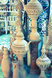 Earthenware in the market, Djerba, Tunisia Stock Image