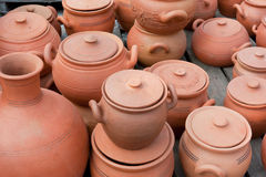 Earthenware on the market. the Republic of Georgia. The Caucasus Royalty Free Stock Images