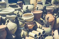 Earthenware in the market Tunisia Royalty Free Stock Images