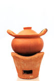 Earthenware,pot. Clay pots made of clay material and then fire of ancient times Royalty Free Stock Photo