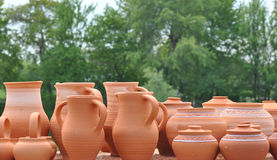Earthenware pots Stock Image