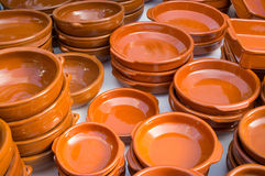 Earthenware pots and pans Royalty Free Stock Image