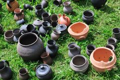 Earthenware pottery Stock Images