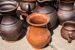 Earthenware pottery Stock Photo