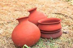 Earthenware pottery Stock Image