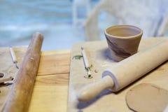 earthenware Produits en céramique d'argile cru Tasse, piles photo stock