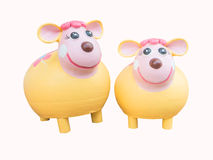 Earthenware  sheep toy Royalty Free Stock Images