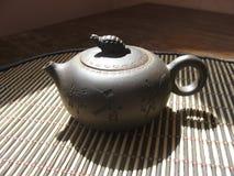 Earthenware teapot stock photography