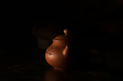 Earthenware teapot. Maker of Yixing clay for the Chinese tea ceremony Royalty Free Stock Photography