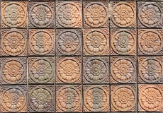 Earthenware tile pattern Royalty Free Stock Photo