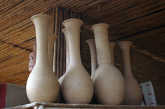 Earthenware vases. Royalty Free Stock Image