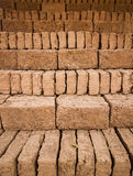 Earthern bricks Stock Image