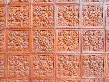 Earthernware glazed tile Stock Image