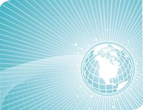 earthglobe τεχνολογία γραμμών Στοκ εικόνες με δικαίωμα ελεύθερης χρήσης