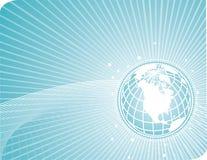 earthglobe con las líneas de la tecnología ilustración del vector