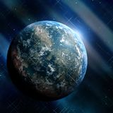 Earthlike planet Stock Photography
