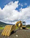 Earthmover. Eartmover parked in country surroundings Stock Photos