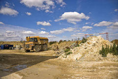 Earthmoving truck ay Cement quarry Stock Photography