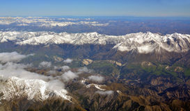 Earthqake Faultine and slips in Mountain Valleys behind Kaikoura royalty free stock image