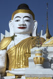 Earthquake Damaged Buddha - Myanmar (Burma) Stock Image