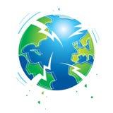 Earthquake. Shaking earth earthquake world planet catastrophe flood apocalypse Stock Photography