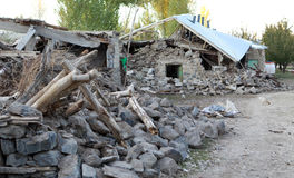 Earthquake in the Adır Village, Van. Stock Photos