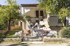 Earthquake aftermath Stock Photography