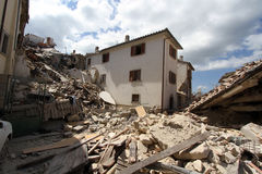 The earthquake in Amatrice royalty free stock photography