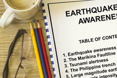 Earthquake awareness Stock Photography
