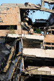 Earthquake blast Stock Photo