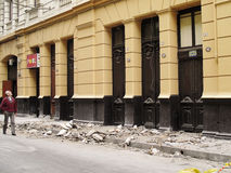 Earthquake of Chile february 2010 in Valparaiso royalty free stock photography