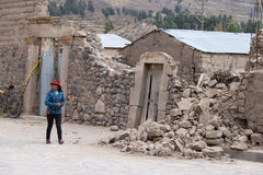 Earthquake in the Colca Canyon, Peru Royalty Free Stock Photography