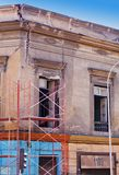 Earthquake damage. Building in Chile with earthquake damage Royalty Free Stock Photo