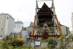 Earthquake damage, Christchurch Cathedral NZ Stock Photos