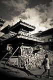 Earthquake damage at Durbar Square,  Kathmandu, Nepal Royalty Free Stock Image