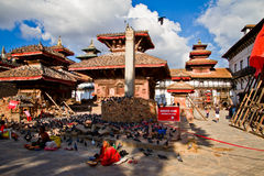 Earthquake damage at Durbar Square,  Kathmandu, Nepal Royalty Free Stock Photography