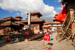 Earthquake damage at Durbar Square,  Kathmandu, Nepal Stock Images