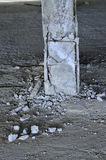 Earthquake damage failure column Stock Photo
