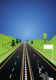 Earthquake damaged roads stock illustration