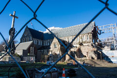 Earthquake dameged Christchurch cathedral Royalty Free Stock Photos