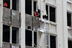 Earthquake demolition Stock Photo