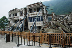 Earthquake destroy. Buildings distroyed by an earthquake