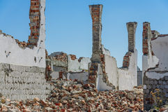 Earthquake destroyed building detail Royalty Free Stock Photo