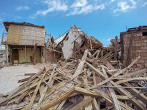 Earthquake Destroyed Buildings, Ecuador, South America Stock Photo