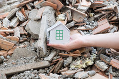 Earthquake, destruction and hope Royalty Free Stock Photography