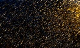 Earthquake effect. Illuminated raindrops create a beautiful effect Stock Images