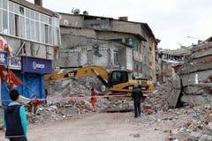 Earthquake in Ercis, Van. Stock Photo