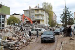 Earthquake in Ercis, Van. Stock Photos